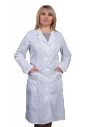 Халат женский стандартная модель, отделка кант ткань (рукав 3/4)