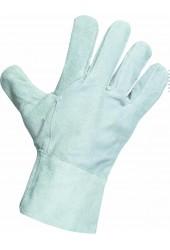 Перчатки (краги) спилковые, 27 см (серые)