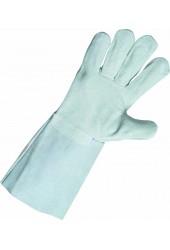 Перчатки (краги) спилковые MERLIN, 35 см (серые)