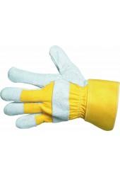 Перчатки комбинированные ЕIDER, хлопок + спилок, крага