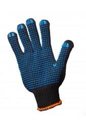 Перчатки трикотажные с ПВХ точкой арт. 8711 (7 нитей, чёрные)
