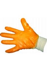 Перчатки трикотажные, нитриловое покрытие (оранжевые/желтые)