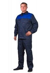 """Костюм """"Стандарт-2"""" (брюки + куртка), т/синий + василек, грета"""