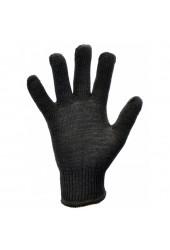 Перчатки трикотажные без ПВХ точки арт.8601 (6 нитей, чёрные)